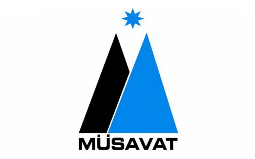 Müsavat Partiyasının rəhbərliyi Milli Şuranın mitinqində tribunadan çıxış etməyəcək