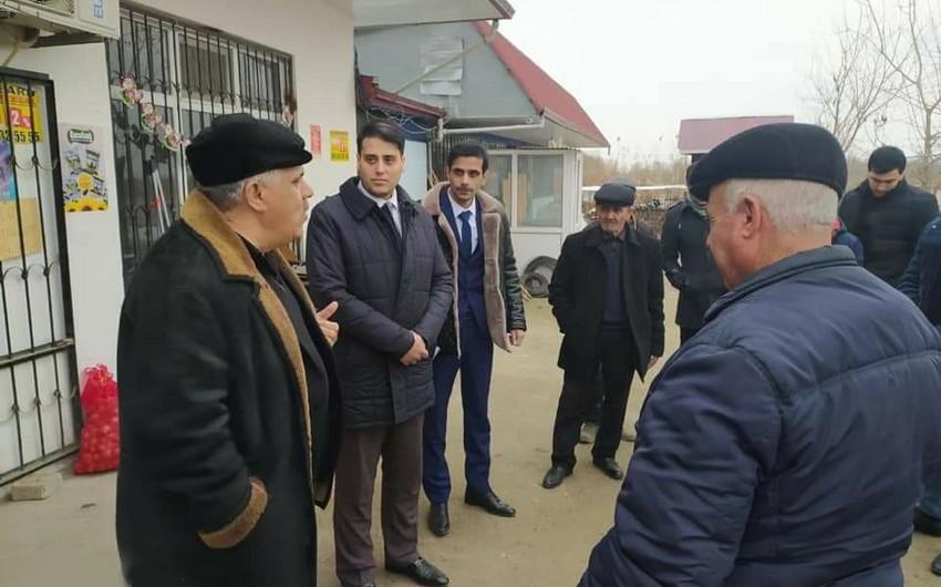 Deputatlığa namizəd Seymur Bayramov görüşlərini davam etdirir - VİDEO