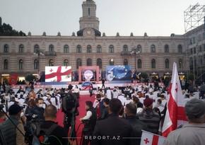 Gürcüstan müxalifəti Tbilisidə kütləvi mitinq keçirir
