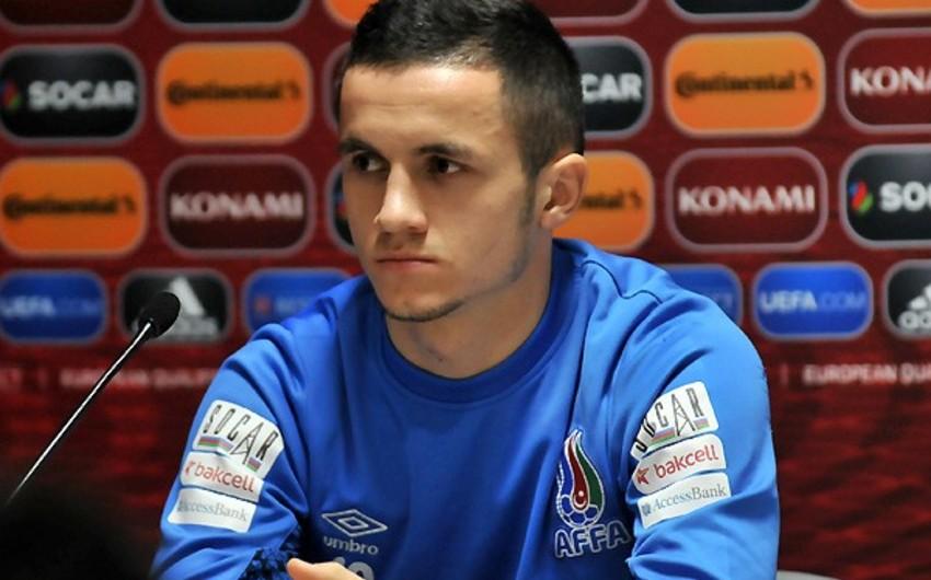 Azərbaycan milli komandasının futbolçusu: Bir neçə qol şansımız olsa da, təəssüf ki, alınmadı