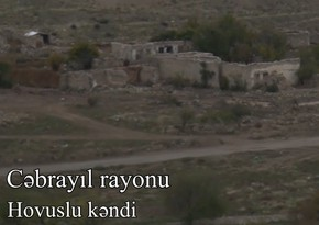 Footage of villages of Gubadli and Jabrayil
