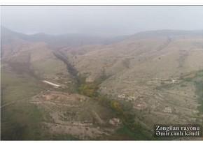Footage of Amirkhanli village of Zangilan