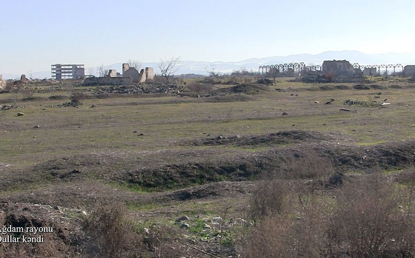 Видеокадры из села Гуллар Агдамского района