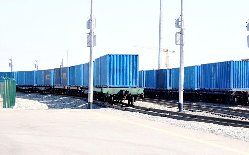 Beynəlxalq Transxəzər Nəqliyyat Marşrutu üzrə üçüncü konteyner qatarı Azərbaycanа çatıb