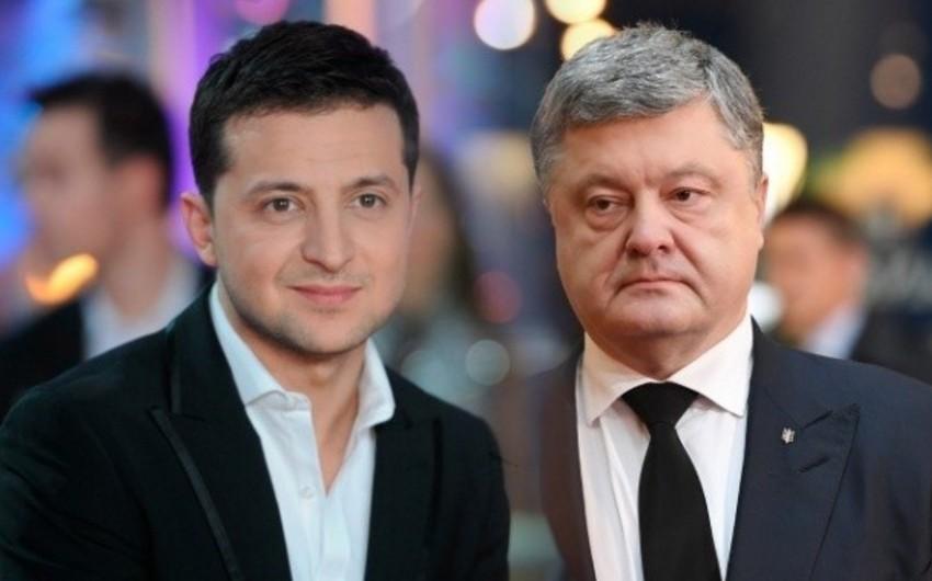 MSK: Zelenski və Poroşenko Ukraynada prezident seçkilərinin ikinci turuna çıxıblar - FOTO