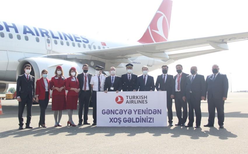Türk Hava Yolları Gəncəyə və Naxçıvana uçuşları bərpa etdi