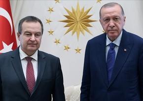 Президент Турции принял спикера сербского парламента