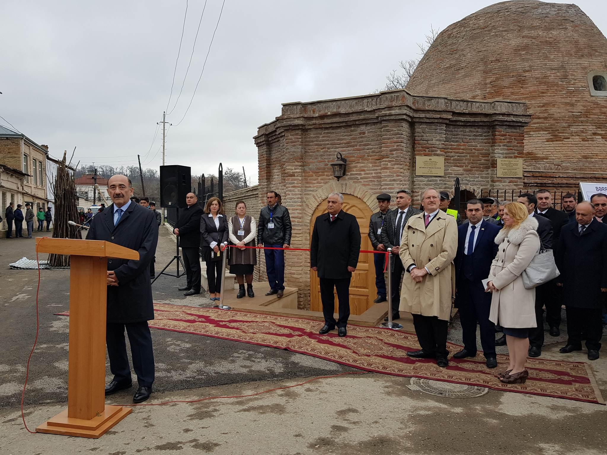 Guba hosts opening of historic dome bath after restoration