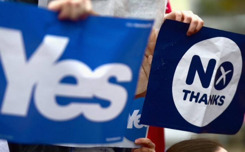 Şotlandiyanın müstəqilliyi ilə bağlı referendumun ilkin nəticələri bəlli olub