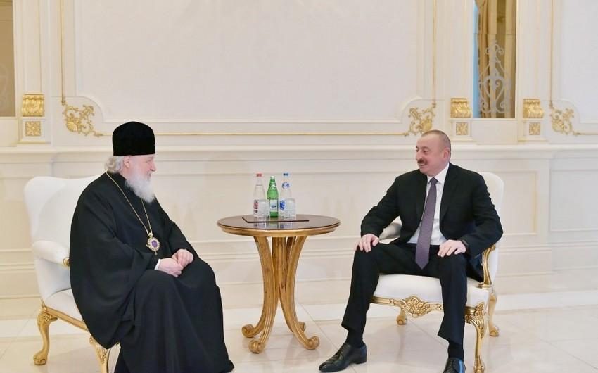 Patriarx Kirill: Azərbaycandakı pravoslavlar da müsəlman əksəriyyəti kimi bütün imkanlardan istifadə edirlər