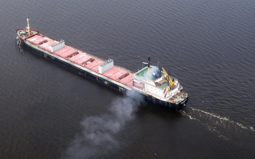 Şimal dənizində yük gəmisi batıb