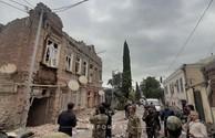 Armenian shelling of Ganja damages historical monument