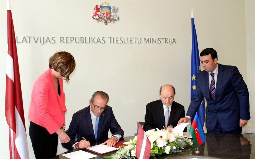 Azərbaycan və Latviya Ədliyyə nazirlikləri arasında Memorandum imzalanıb