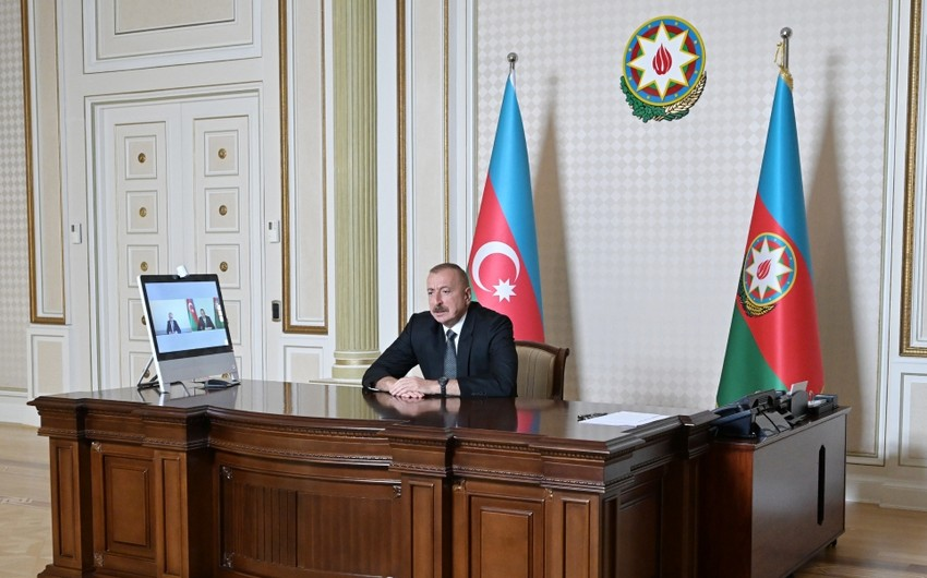 Ilham Aliyev receives in a video format New Minister of Education