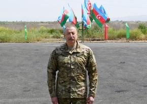 Президент Ильхам Алиев принял участие в открытии подстанции Физули