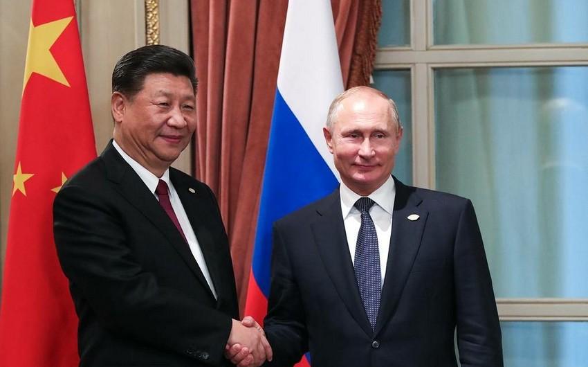 Rusiya və Çin liderləri videoformatda görüşüb