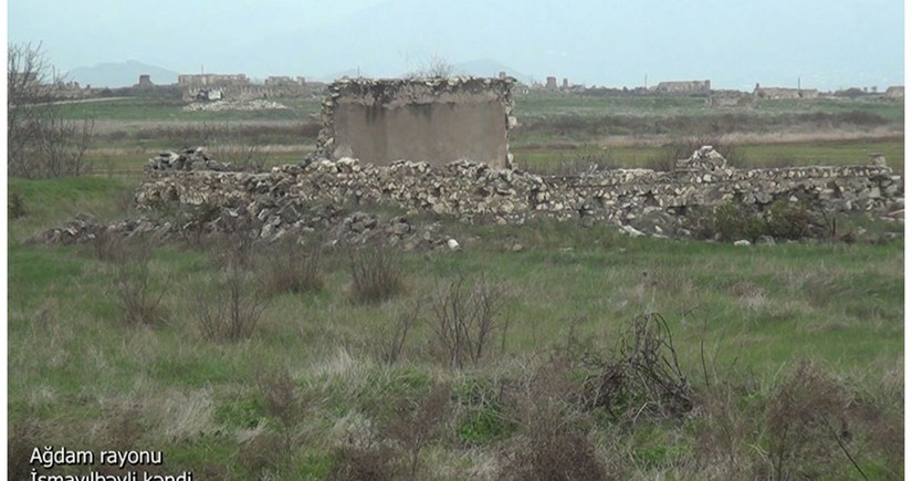 Footage from Ismayilbeyli village of Aghdam