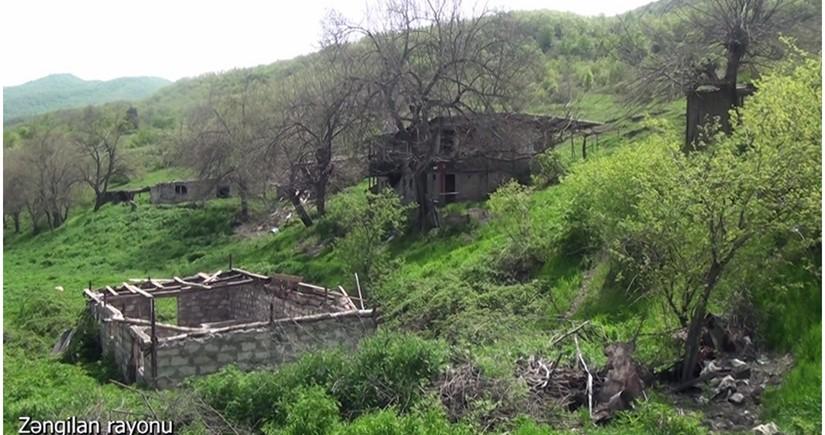 Footage from Najaflar village of Zangilan