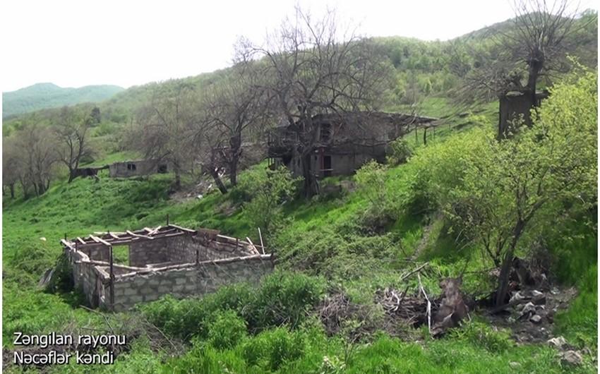 Освобожденное от оккупации село Наджафлар Зангиланского района