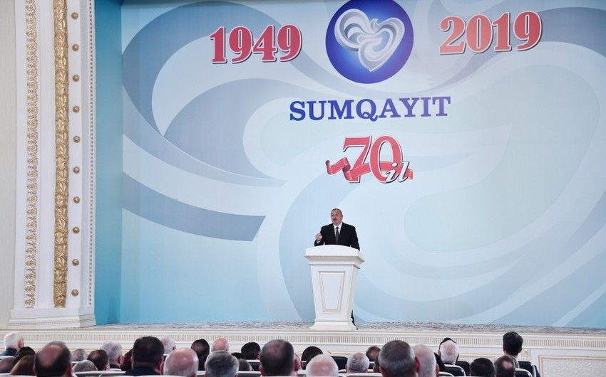 President Ilham Aliyev attended event marking 70th anniversary of Sumgayit