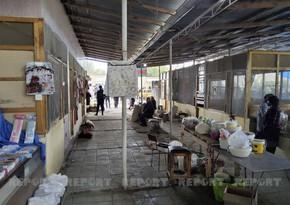 Kürdəmirdə bazarda sanitar qaydaların kobud şəkildə pozulması aşkarlanıb