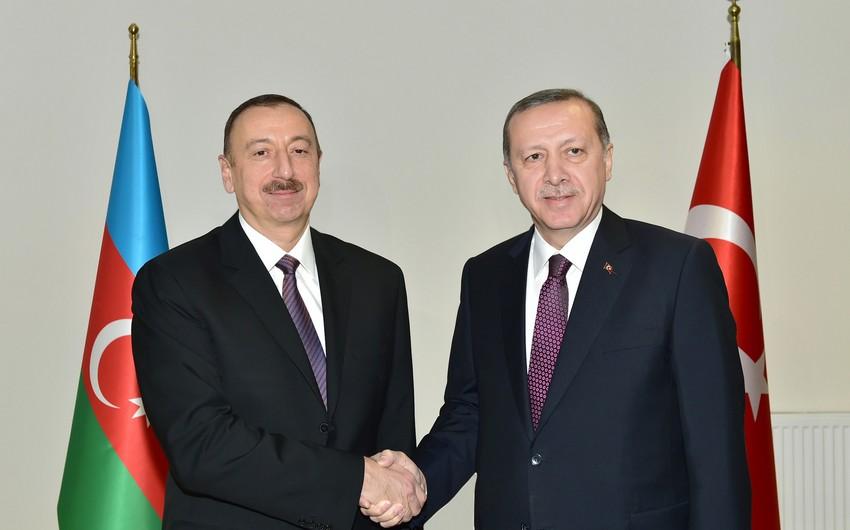 Türkiyə Prezidenti Azərbaycan Prezidentini və digər həmkarlarını təbrik etdi