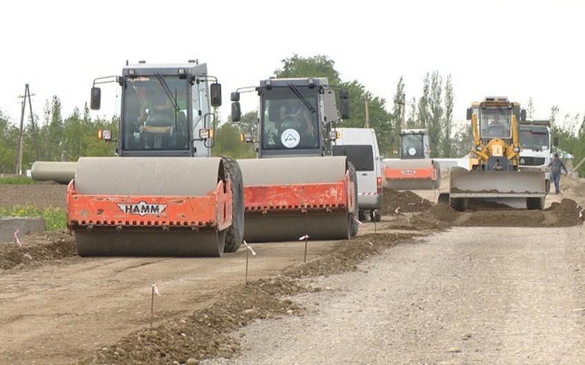 Samux rayonunda 36 km-lik avtomobil yolunun yenidən qurulması yekunlaşır - VİDEO