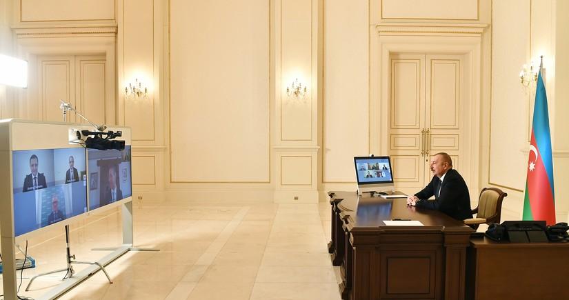 Prezident Signify şirkətinin baş icraçı direktorunu videoformatda qəbul edib - YENİLƏNİB