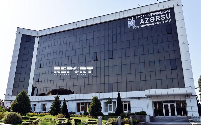 """""""Azərsu"""" ASC-nin institutu kotirovka sorğusu elan edib"""