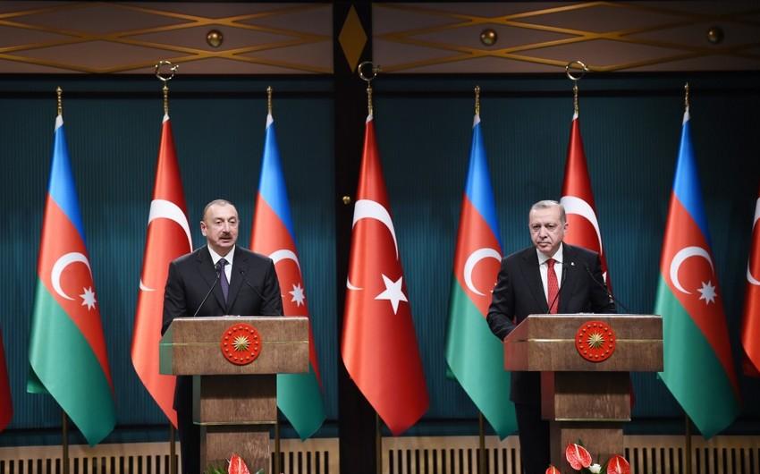 """Azərbaycan Prezidenti: """"Türkiyə iqtisadiyyatına 14 mlrd. dollar sərmayə qoyulub"""""""