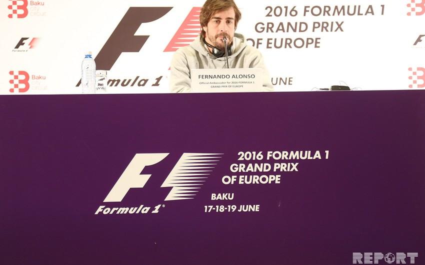 Fernando Alonso: Bakının yoxuşlu yolları pilotlar üçün asan olmayacaq