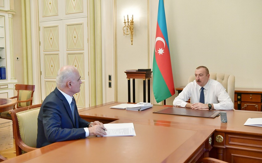 President Ilham Aliyev received Shahin Mustafayev in connection with his appointment to new post