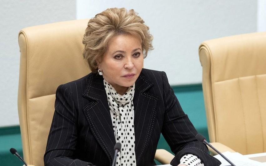Valentina Matviyenko: Qarabağa dair razılaşmaya əməl ediləcəyinə inanırıq