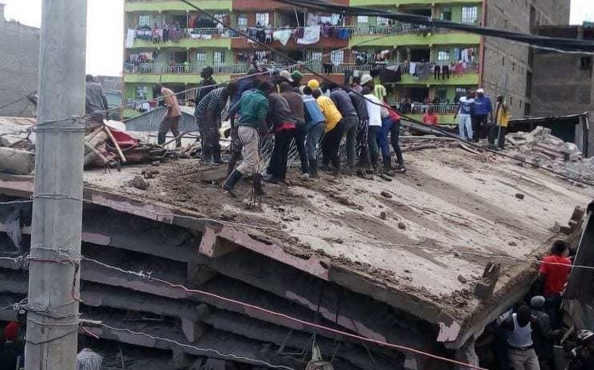 В Кении обрушилось здание, есть погибшие - ВИДЕО