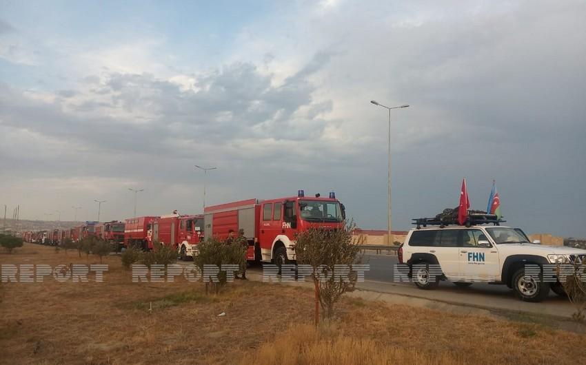 Следующая группа азербайджанских пожарных направилась в Турцию
