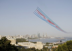 Military planes conduct training flights for Victory Parade