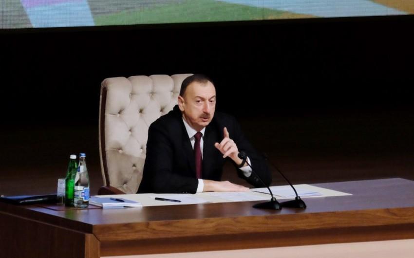 Prezident İlham Əliyev: Bütün addımlarımız Azərbaycanın inkişafına xidmət edir