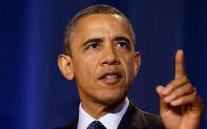 """Barak Obama: """"ABŞ dünya arenasında liderdir"""""""