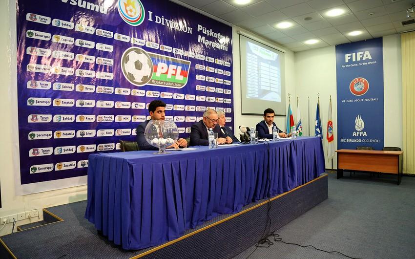 Futbol üzrə Azərbaycan I Divizionunun püşkü atılıb