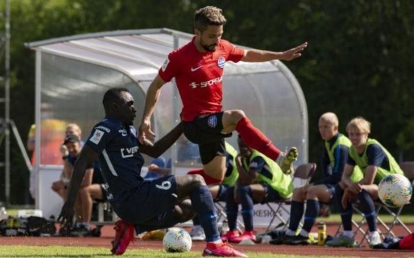 Azərbaycanlı futbolçu Estoniya Kubokunu qazana bilmədi
