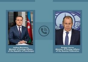 Azerbaijani, Russian FMs hold phone talk