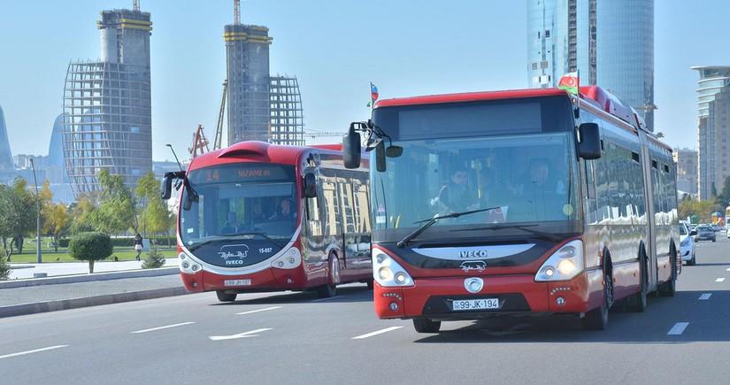 В связи с Днем памяти в Баку будет изменена схема движения автобусов