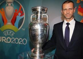 UEFA President arrives in Baku