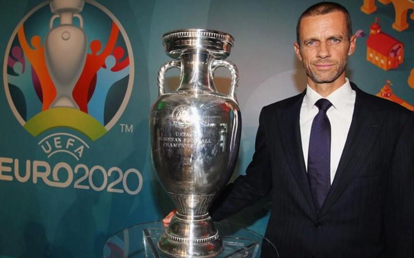 UEFA prezidenti Bakıda