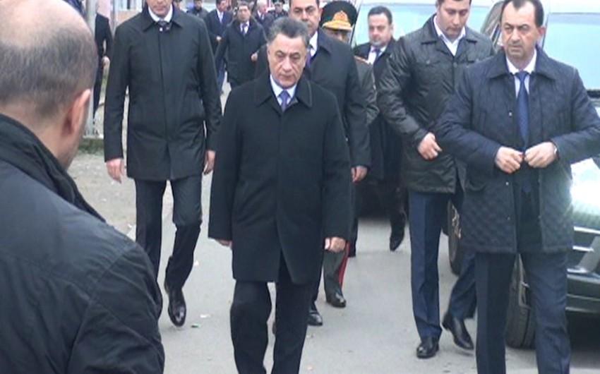 Ramil Usubov Nardaranda şəhid olmuş polis serjantının hüzr mərasimində iştirak edib - FOTO