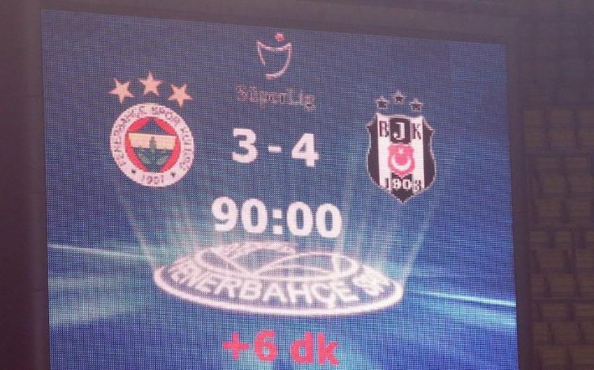 Fənərbağça Beşiktaşa 15 ildən sonra yenə eyni hesabla uduzdu