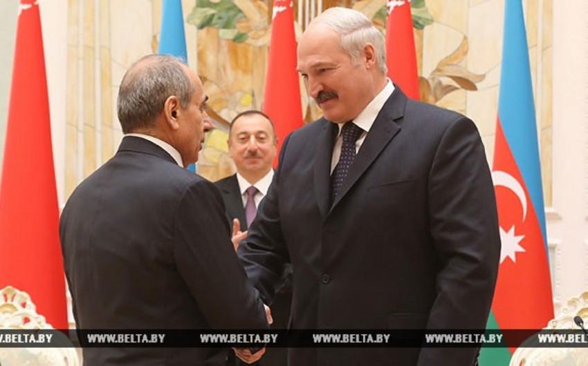 Baş nazirin birinci müavini Belarusun Şərəf ordeninə layiq görülüb