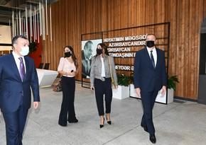 Президент и первая леди приняли участие в открытии Центра инклюзивного развития и творчества DOST
