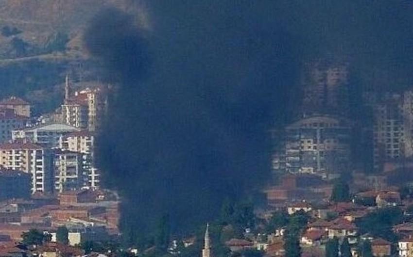 Ankarada güclü yanğın baş verib - VİDEO