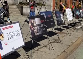 Перед зданием ООН состоялась выставка, посвященная геноциду в Ходжалы